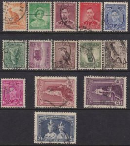 Australia 1937-1946 SC 166-179 Used Set