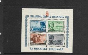 Croatia Lot 1:  Semi -Postal Souvenir Sheet, B37, Perf, National Youth Society