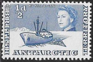 British Antarctic Territory 1 MNH - M. V. Kista Dam - Ice Breaker