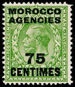 MOROCCO AGENCIES SG208, 75c on 9d olive-green, NH MINT. WMK BLOCK.