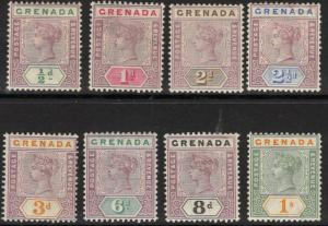 GRENADA SG48/55 1895-9 DEFINITIVE SET MTD MINT