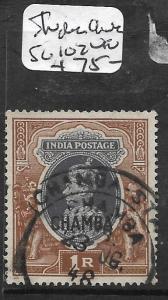 INDIA CHAMBA  (P2009B) KGVI 1R  SG 102  VFU