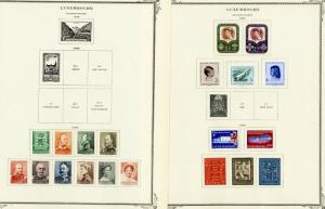 Luxembourg Stamps nearly all Mint Clean on Scott Pages