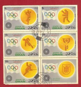 OMAN  1972  SOUVENIR SHEET OLYMPICS   SEE SCAN