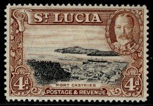 ST. LUCIA GVI SG119, 4d black & red-brown, M MINT.