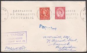 GB NORWAY 1962 cover BERGEN PAQUEBOT. Dunera ship cachet....................1055