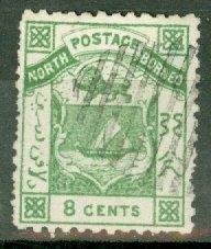 B: North Borneo 3 used CV $60