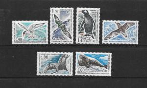 BIRDS & MARINE LIFE - FRENCH SOUTHERN ANTARCTIC TERRITORIES #58-63 MNH