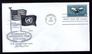 US 1266 Co-op Year Artmaster U/A FDC