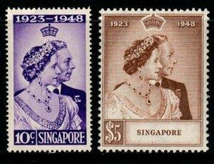 SINGAPORE SG31/2 1948 SILVER WEDDING MNH