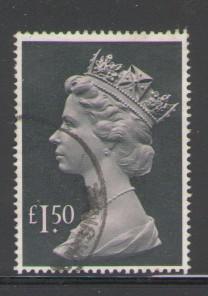 Great Britain Sc MH173 1983 £1.50 QE II Machin Head stamp used