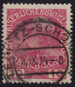 Austria - 1908 - Scott #115 - used - TEPLITZ-SCHÖNAU pmk Czech Republic