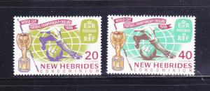 New Hebrides, British 116-117 Set MH World Cup Soccer