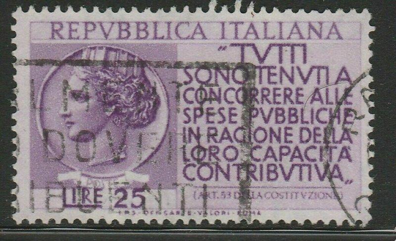 Italy Republic 1954 25L Used A16P52F183