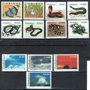 ZIMBABWE 2004 - 2005 3 COMMEMORATIVE SETS MNH **