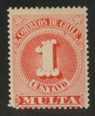Chile Scott J43 MH* postage due
