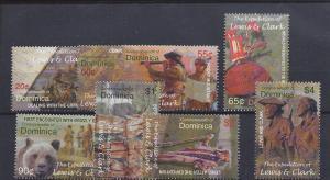 Dominica, 2430-37, Lewis & Clark Singles,**MNH**