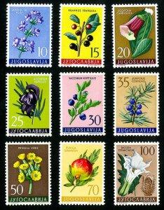 Yugoslavia Stamps # 538-46 VF MLH