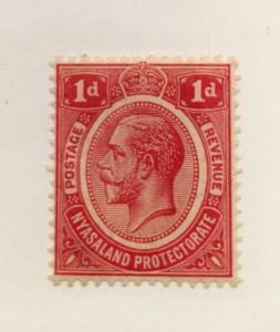 Nyasaland Scott 13 KGV One Pence-Mint NH
