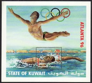 1996 Kuwait Atlanta Olympics 750f S/S souvenir sheet MNH Sc# 1336 CV $150.00
