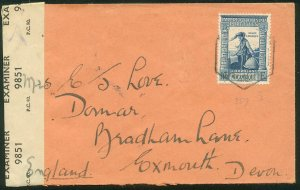 MOZAMBIQUE 283, 1.75e ON COVER TO ENGLAND W/CENSOR TAPE. F-VF (56)