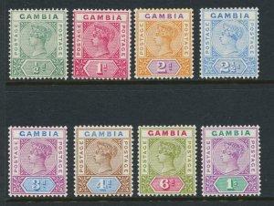 GAMBIA 1898 SET, VF MLH SG#37-44 CAT£130 (SEE BELOW)