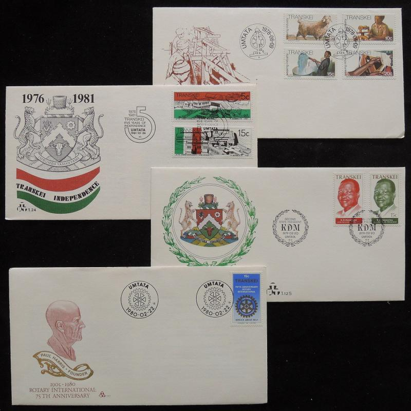 ZS-R963 TRANSKEI - Fdc, 1978-1980 Great Lot Of 4 Different Covers