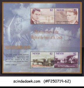 NEVIS 2003 75th ANNIV. OF THE FLIGHT OF THE SPIRIT OF ST. LOIUS MIN/SHT MNH