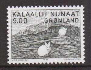 Greenland  #118   MNH  1985    9k  hares