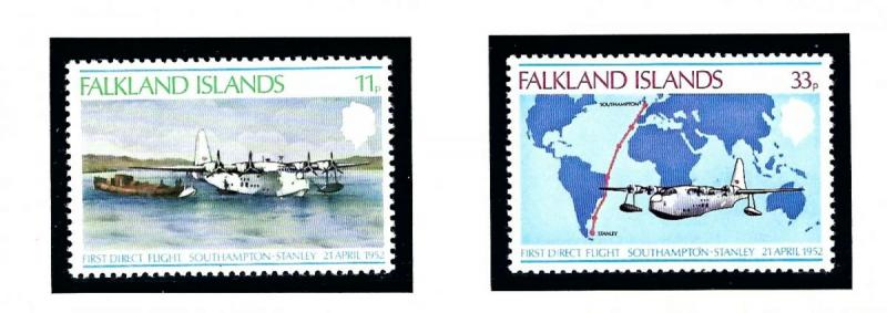 Falkland Is 276-77 MNH 1978 Anniv of First Direct Flight from England