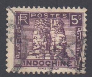 Indo-China SG175, 1931 Ruins of Angkor 5c used