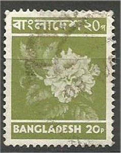 BANGLADESH, 1973, used  20k,  Hibiscus Scott 46