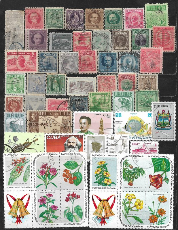 COLLECTION LOT OF 56 CUBA 1874+ STAMPS