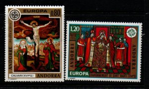 Andorra (Fr) Sc 236-37 1975 Europa stamp set mint NH