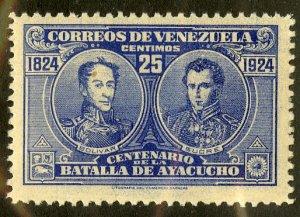 VENEZUELA 286 MNH SCV $2.75 BIN $1.50 BOLIVAR