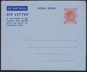 HONG KONG 1948 GVI 40c airletter unused.....................................8383