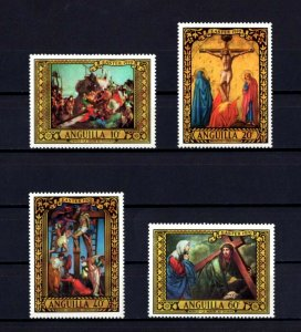 ANGUILLA - 1970 - EASTER - CROSS - CALVARY - PAINTINGS - 4 X MINT - MNH SET!