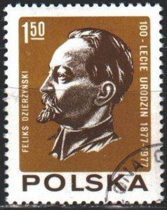 Poland. 1977. 2523. Dzerzhinsky, communist, revolutionary. USED.