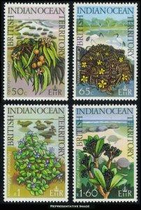 British Indian Ocean Territory Scott 78-81 Mint never hinged.