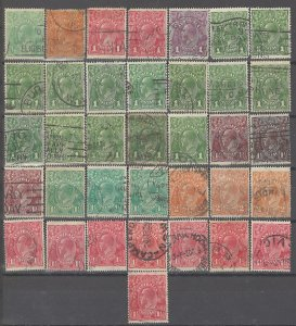 COLLECTION LOT # 2454 AUSTRALIA 36 STAMPS 1914+ CLEARANCE CV+$48