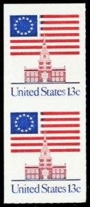 1622Cb, Mint VF NH Rare 13¢ Imperforate Vertical Pair - Stuart Katz