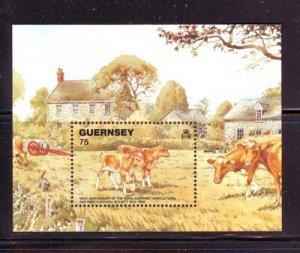 Guernsey Sc 475 1992  Guernsey cows stamp sheet mint NH