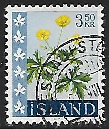 Iceland # 332 - Buttercup - used....{GBl)