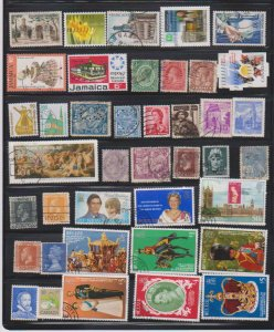 LOT OF DIFFERENT STAMPS OF THE WORLD USED (40) LOT#111