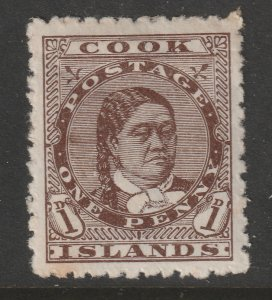 Cook Is a MH 1d brown from the 1893 set,SG 5