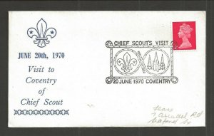 1970 UK Great Britain Boy Scouts Coventry Chief Scout visit cancel