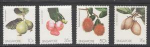 Singapore 1986 Indigenous Fruit Scott # 480 - 483 MH