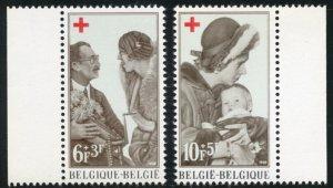 Belgium Scott B822-23 MVFNHOG - Red Cross - SCV $1.60