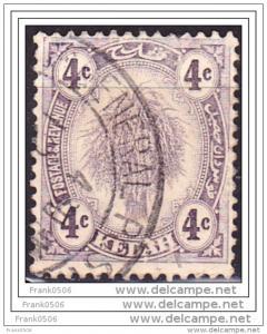 Malaya, Kedah, 1921-36, Sheaf of Rice, 4c, sc#29, used