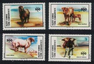 Turkish Cyprus Horses Sheep Donkeys Goat Domestic Animals 4v SG#168-171